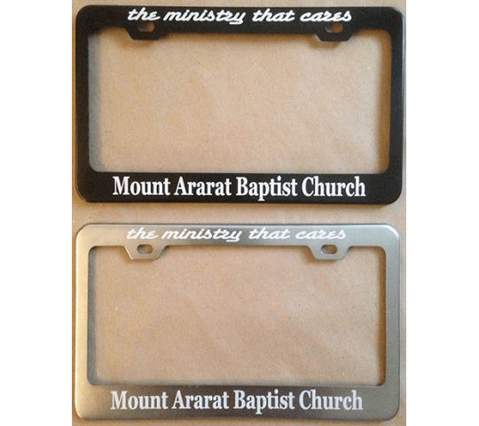 Mt. Ararat License Plate Frame